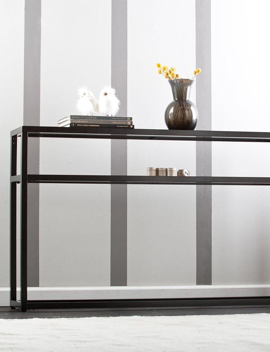 Southern Enterprises Soft Black TV Stands & Entertainment Centers Living Room Furniture