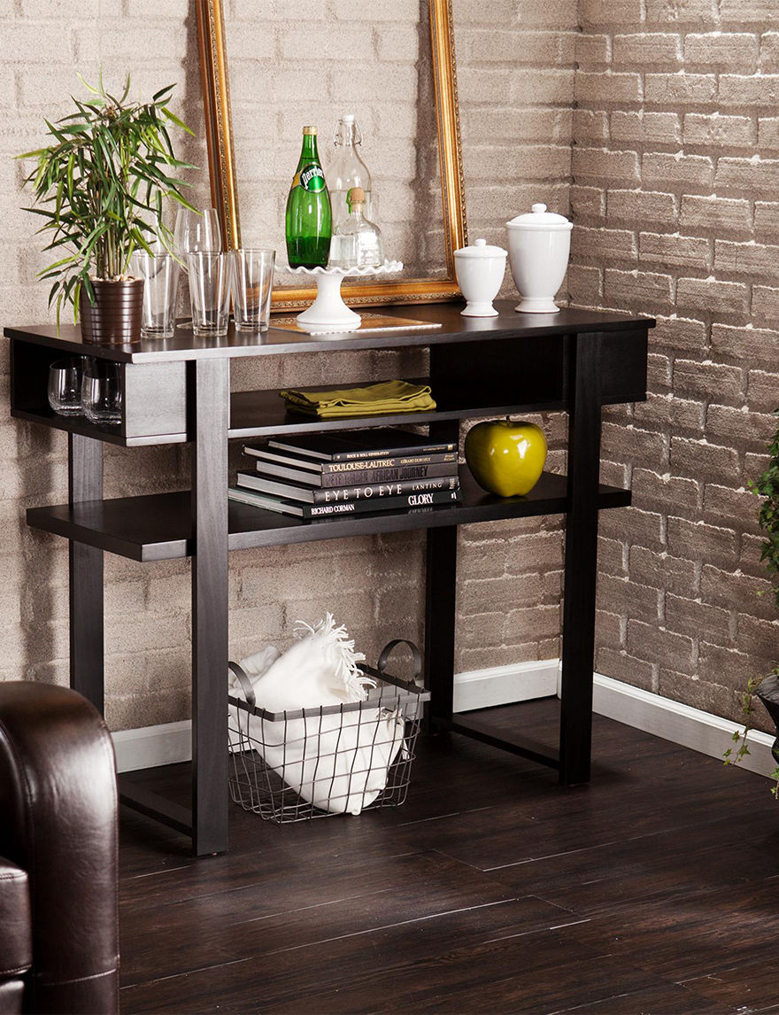 Southern Enterprises Black TV Stands & Entertainment Centers Living Room Furniture