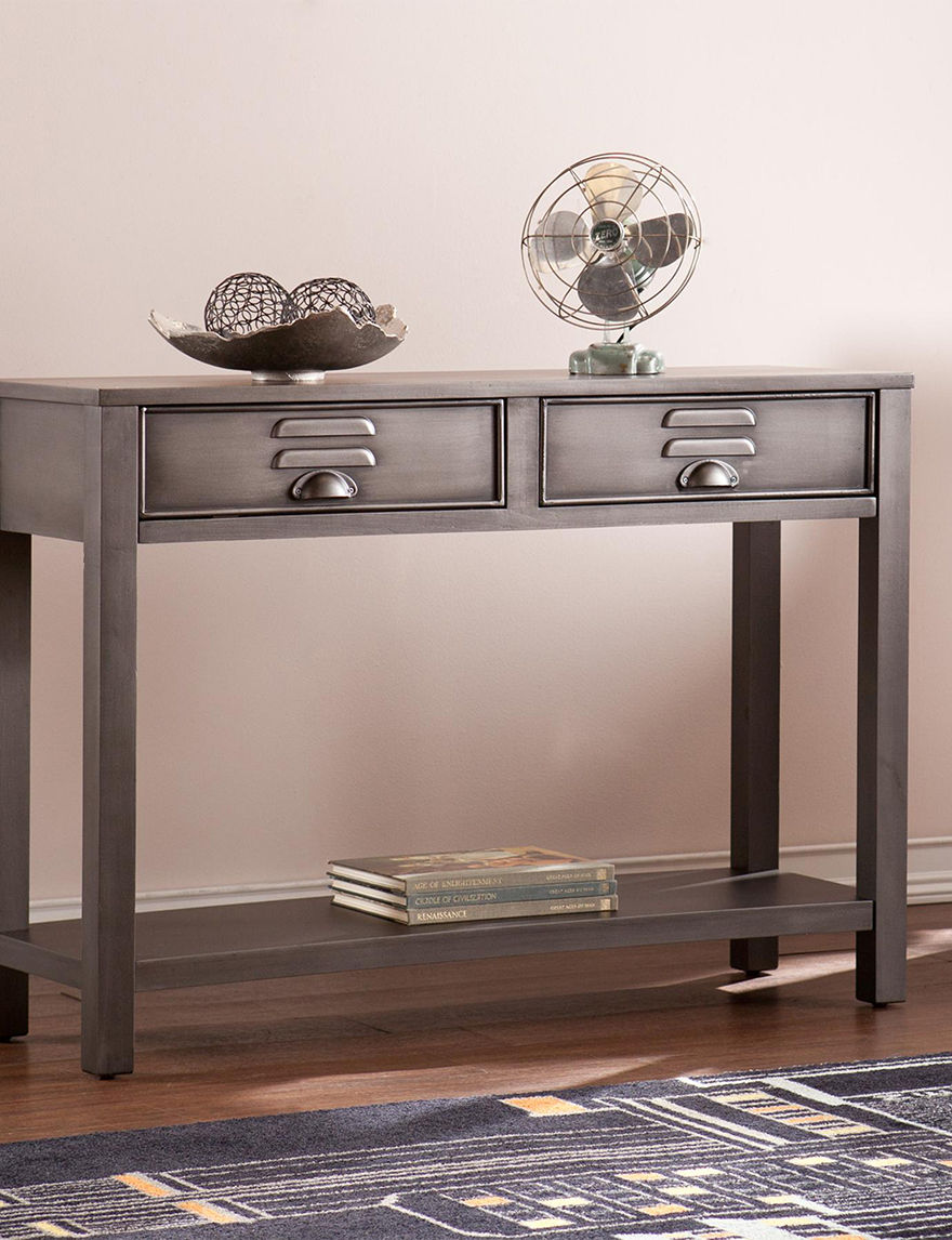 Southern Enterprises Grey TV Stands & Entertainment Centers Living Room Furniture