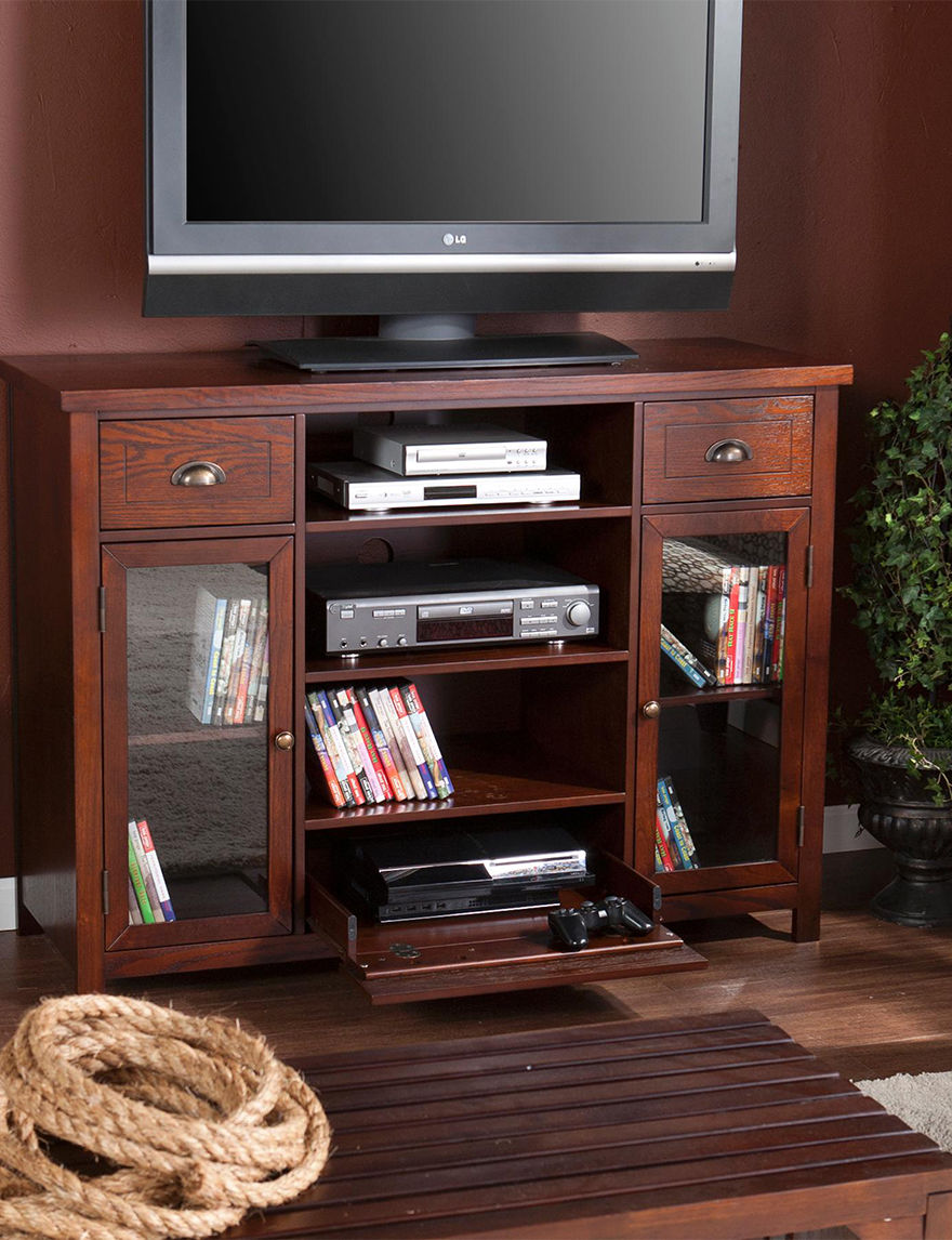 Southern Enterprises Espresso TV Stands & Entertainment Centers Living Room Furniture