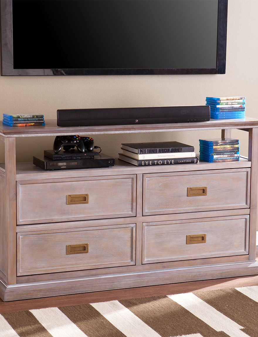 Southern Enterprises Oak TV Stands & Entertainment Centers Living Room Furniture