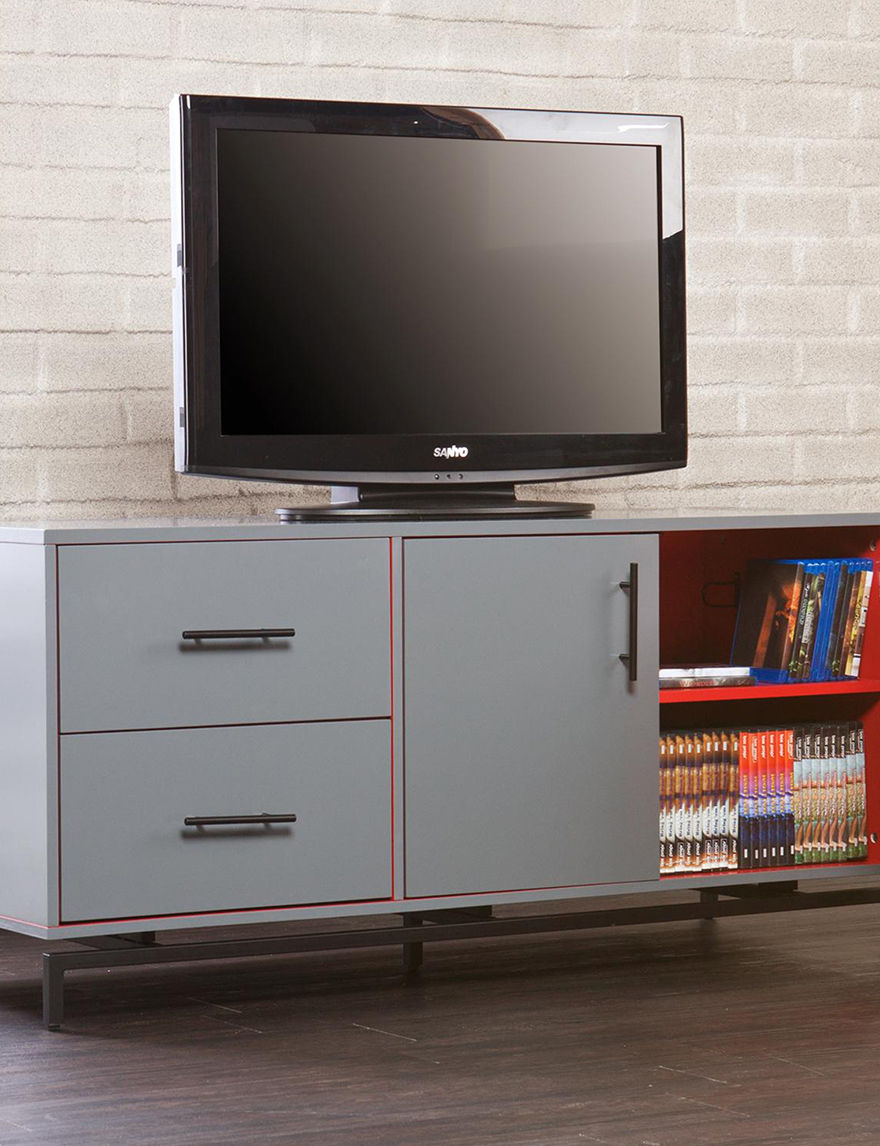 Southern Enterprises Gray TV Stands & Entertainment Centers Living Room Furniture