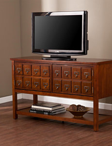 Southern Enterprises Mahogany TV Stands & Entertainment Centers Living Room Furniture