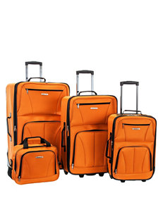 Rockland 4-pc. Orange Deluxe Expandable Luggage Set