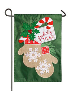 Evergreen Holiday Cheer Mittens Garden Flag