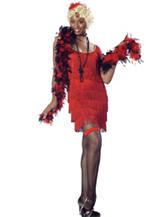 Red Fashion Flapper Adult Costume