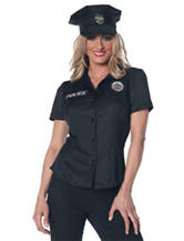 Police Officer Adult Costume Top