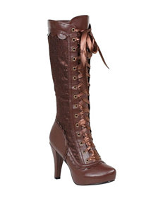 Brown Steampunk Tall Costume Boots