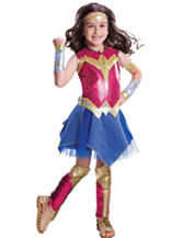 8-pc. Batman V Superman: Girls Deluxe Wonder Woman Costume