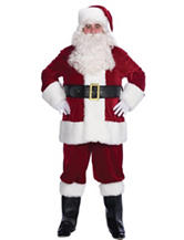 10-pc. Velvet Santa Adult Costume