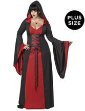Deluxe Hooded Red Robe Adult Plus-size Costume