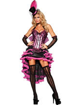 5-pc. Burlesque Beauty Pink & Black Costume