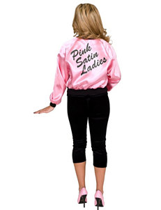Pink Satin Ladies Jacket Plus-size Adult Costume