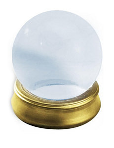 Crystal Ball with Stand Prop