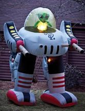Alien Robot 8-ft. Airblown Lawn Figurine