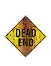 Dead End Metal Sign Decoration