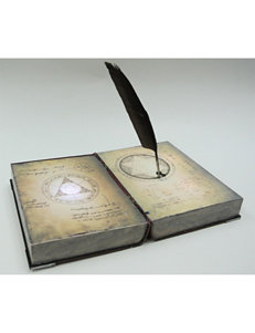 Spell Book With Feather Prop Decoration
