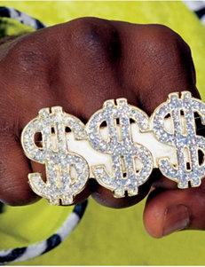 Dollar Sign Costume Ring