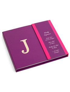 Tri Coastal Purple Monogram School & Office Supplies