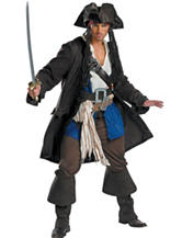 7-pc. Pirates Of The Caribbean Captain Jack Sparrow Prestige Adult Costume