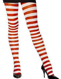 Candy Cane Adult Costume Tights