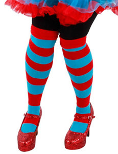 Cat In The Hat Thing 1 & Thing 2 Striped Knee Highs