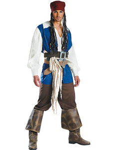 6-pc. Pirates of the Caribbean Captain Jack Sparrow Adult Costume