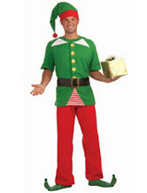 4-pc. Jolly Elf Adult Costume