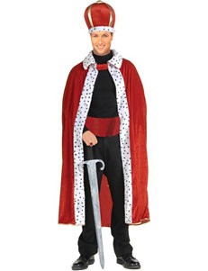 2-pc. King Robe & Crown Adult Costume Set