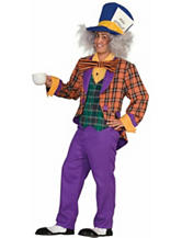 4-pc. Plaid Mad Hatter Adult Costume