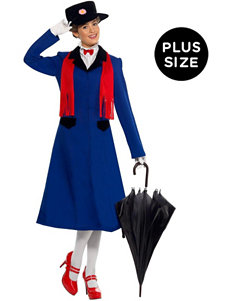 5-pc. Mary Poppins Plus-size Adult Costume Set