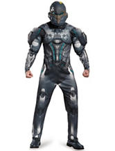 2-pc. Big & Tall Halo Spartan Locke Muscle Adult Costume Set
