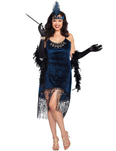 2-pc. Downtown Doll Flapper Adult Costume