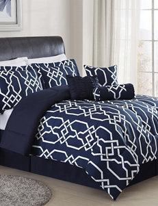 Monroe Blue / White Comforters & Comforter Sets
