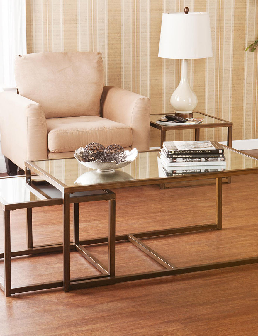Southern Enterprises Bronze Accent & End Tables Living Room Furniture