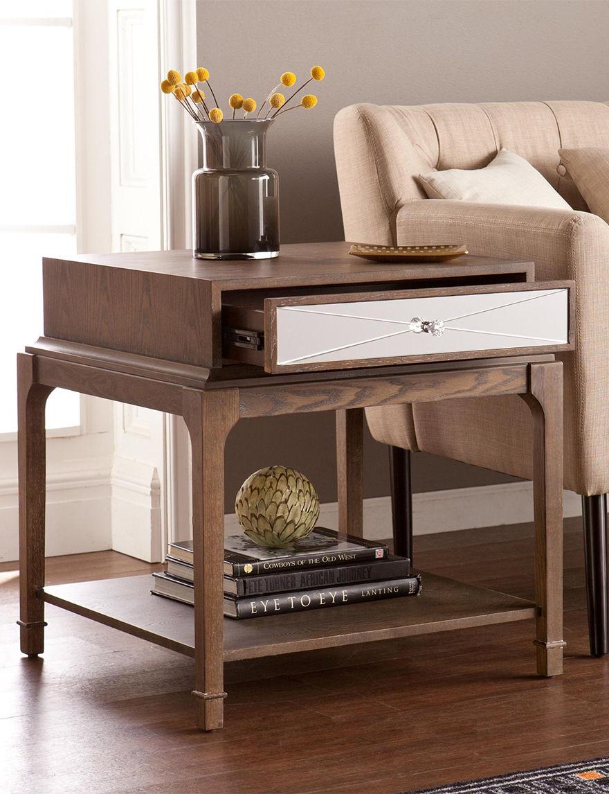 Southern Enterprises Oak Accent & End Tables Living Room Furniture