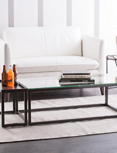Southern Enterprises Soft Black Accent & End Tables Living Room Furniture