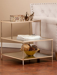 Southern Enterprises Knox Gold-Tone Accent Table