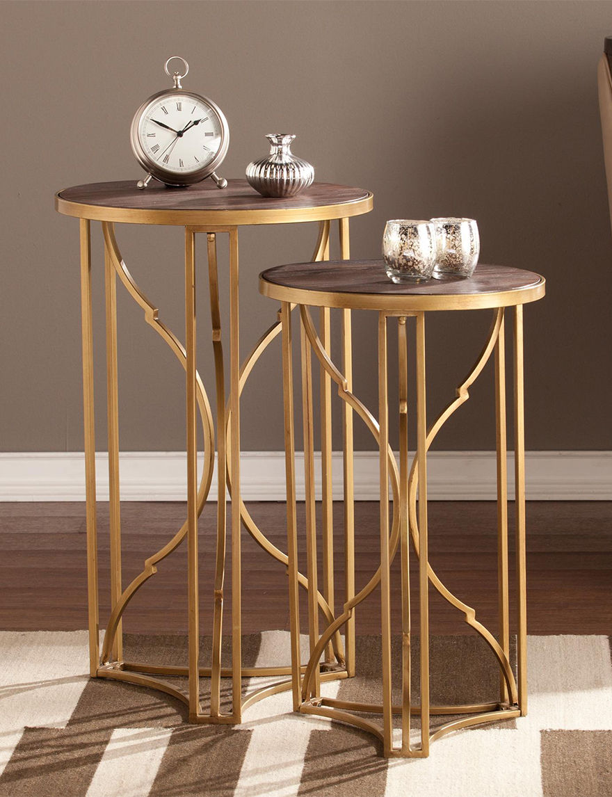 Southern Enterprises Gold Accent & End Tables Living Room Furniture