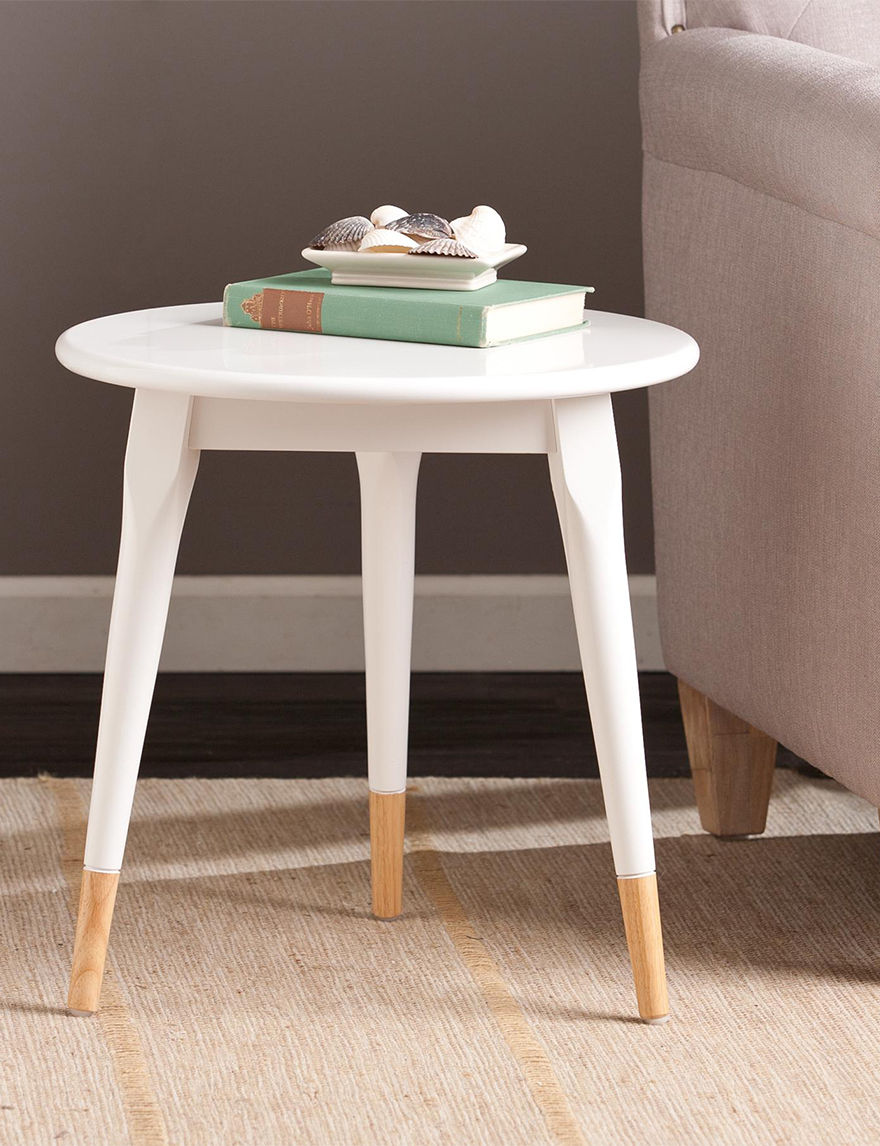 Southern Enterprises White Accent & End Tables Living Room Furniture