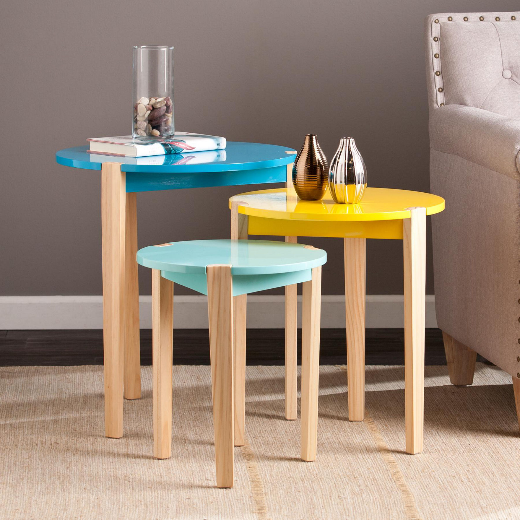 Southern Enterprises Blue Accent & End Tables Living Room Furniture