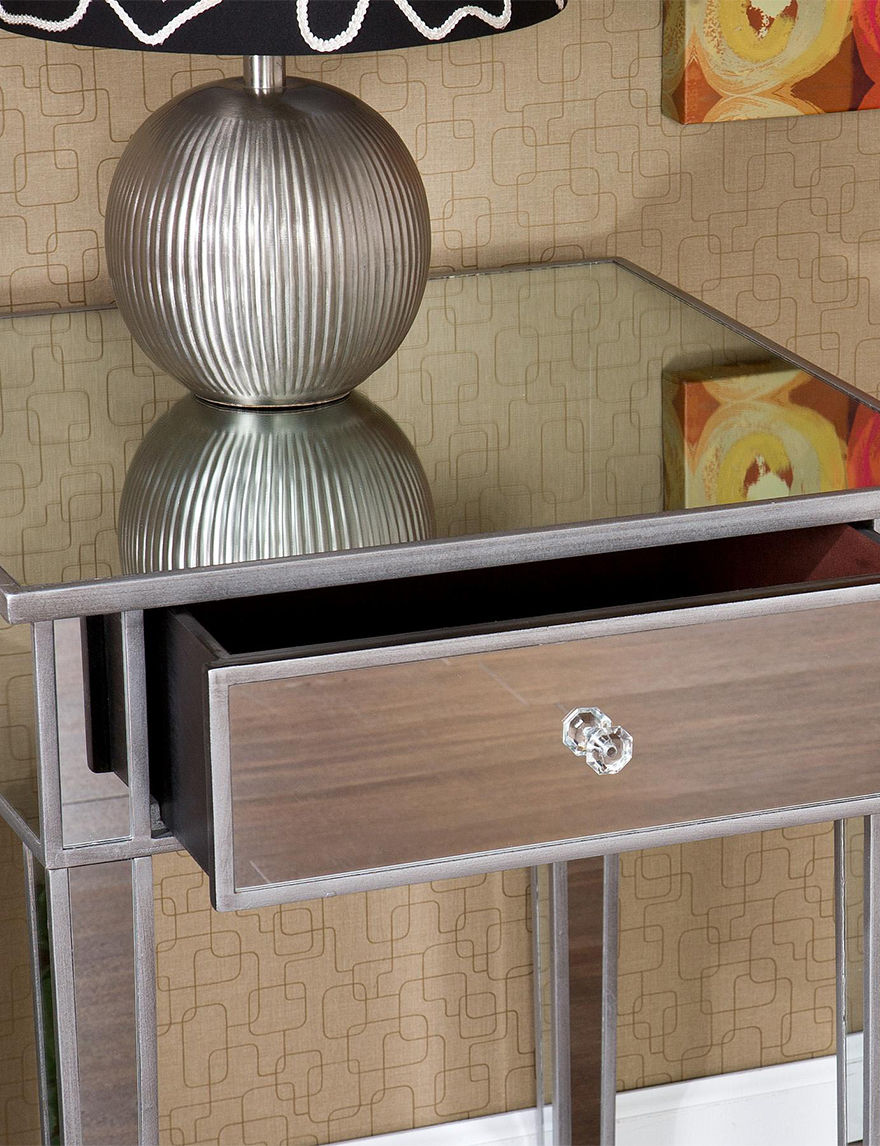 Southern Enterprises Silver Accent & End Tables Living Room Furniture