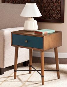 Southern Enterprises Brown / Blue Accent & End Tables Living Room Furniture