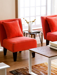 Southern Enterprises Red / Black Accent Chairs Living Room Furniture