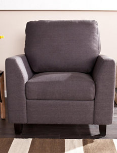 Southern Enterprises Dark Grey Accent Chairs Living Room Furniture