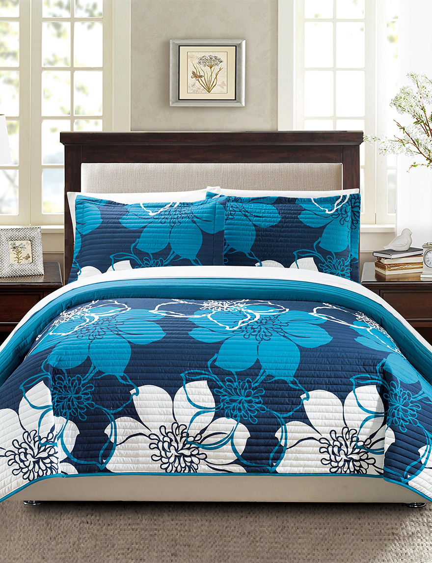 Chic Home Design Blue Quilts & Quilt Sets