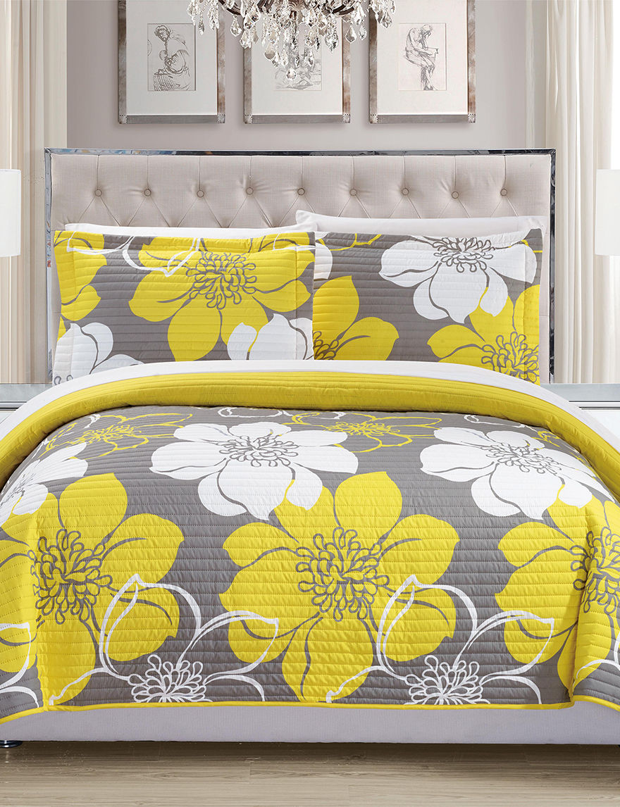 Chic Home Design Yellow Quilts & Quilt Sets