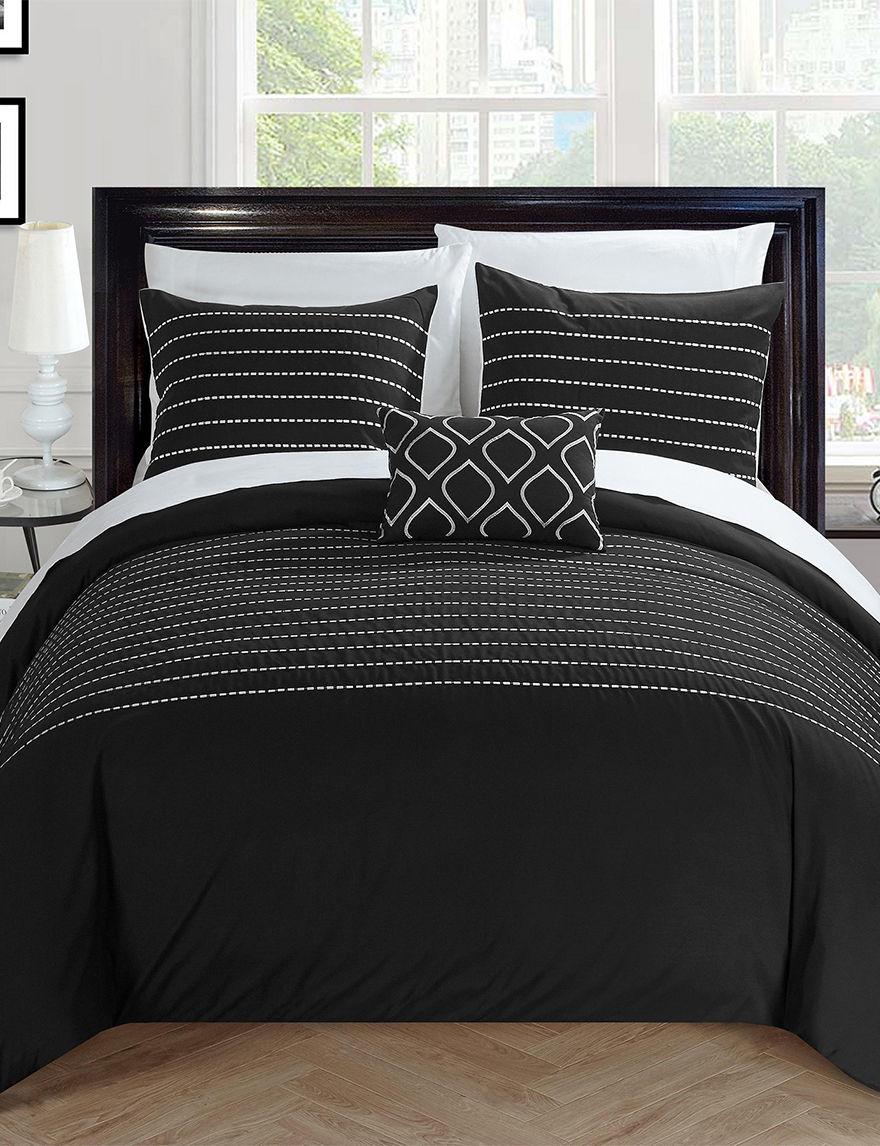 Chic Home Design Black Duvets & Duvet Sets
