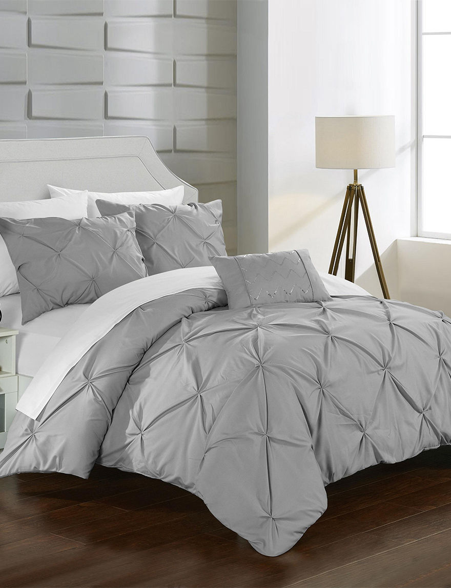 Chic Home Design Silver Duvets & Duvet Sets