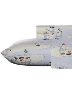 Eddie Bauer Penguin Print Flannel Sheet Set
